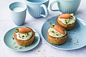 Swiss style carrot muffins
