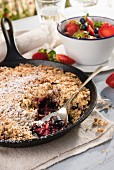 Berry & pecan nut crumble