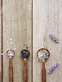 Three spoons of lavender salt