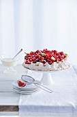 Pavlova with red fruit