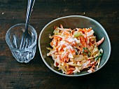 Gluten-free coleslaw with carrots and celeriac