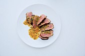 Marinated duck with honey an tamarind