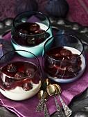Port wine figs on mascarpone