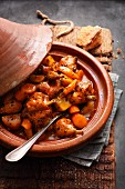 Rabbit and vegetable tagine with saffron