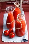 Homemade tomato purée