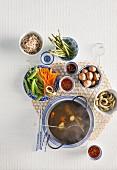 Oriental vegetable fondue