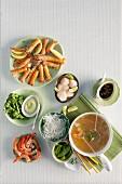 Oriental seafood fondue