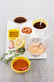 Various marinades for chicken