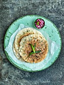 Indian pancakes with green chilli