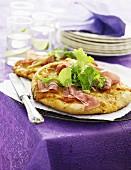 Mini prosciutto pizzas