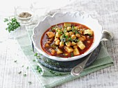 Oriental chickpea stew with fresh thyme