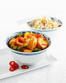 Chicken curry with rice (Asia)