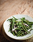 Grilled bean salad with anchovies