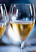 Glasses of sparkling wine from Franciacorta, Italy