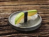 Nigiri sushi with avocado