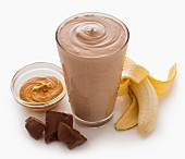 A chocolate banana smoothie