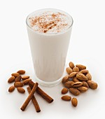 An almond smoothie with cinnamon