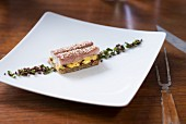 Eel on black bread with mayonnaise