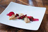 Char tatar with beetroot