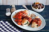 Chicken breast stuffed with spinach and ricotta