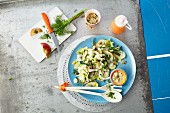 Courgette & apple salad with yoghurt dressing