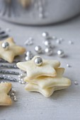 Butter biscuits with sugar beads