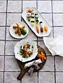Various oriental appetisers