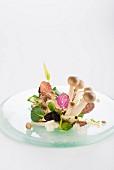 Mushroom salad with truffle vinaigrette