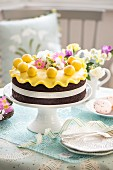 An Easter cake with marzipan