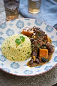Lamb ragout with couscous (Morocco)