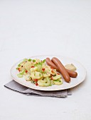 Potato salad and sausages