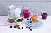 Colourful smoothies for children