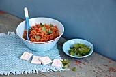 Vegetarian tomato couscous