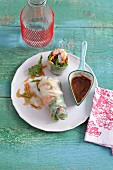 Fresh summer rolls with prawns