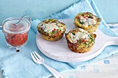 Spicy mini frittatas