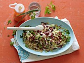 Green quinoa salad with chicory