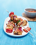 Turkey shish kebabs