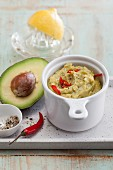 Avocado and apricot dip with chilli