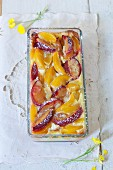 Plum and apricot bake