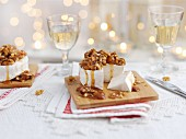 Cheese with walnuts and honey for Christmas