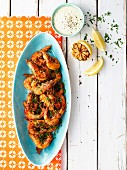 Prawns with smoked peppers and lemon aioli