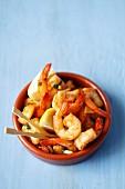 Fried prawns with garlic