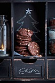 Pecan brownie cookies for Christmas