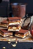 Home-made chocolate & caramel bars for Christmas