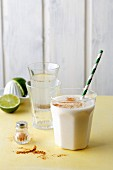 Chia fresca and cucumber lassi (simple glyx)