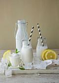 Ice-cold coconut lemonade