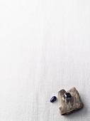A garnet and a lapis lazuli
