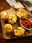 Mini pepper steak and mushroom pies
