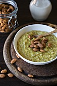 Amaranth, millet and rice porridge with roasted almonds
