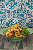 Chicken tagine with lemons and olives (Morocco)
